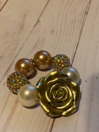 Gold and Pearl Bubblegum Bracelet