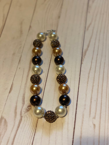 Brown Bubblegum Bead Necklace