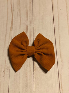 Burnt Orange Fabric Hair Bows