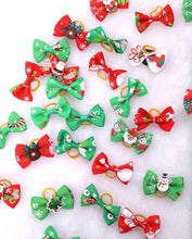 Load image into Gallery viewer, Set of 2 Mini Christmas Bows