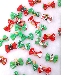 Set of 2 Mini Christmas Bows