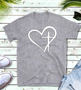 Heart Cross Tee
