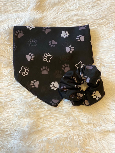 Paw Print Dog Bandana Mommy and Me Set