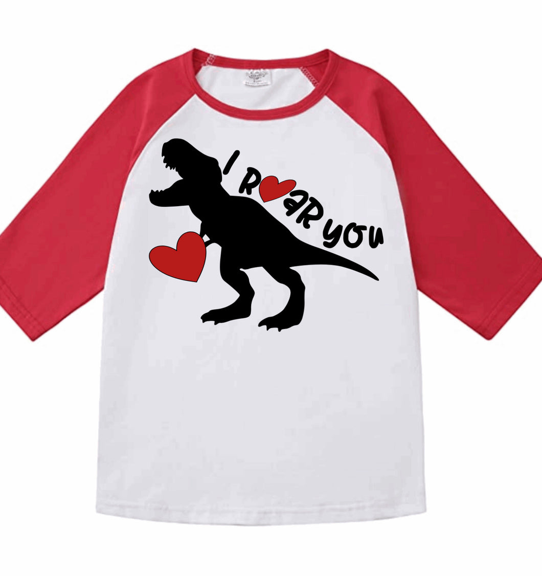 I Roar You Boy's Valentine Shirt