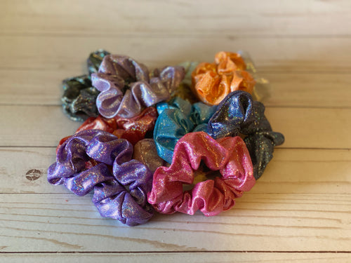 Shimmer Swim Scrunchies