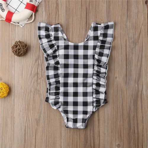 Black and White Baby One Piece Swimsuit
