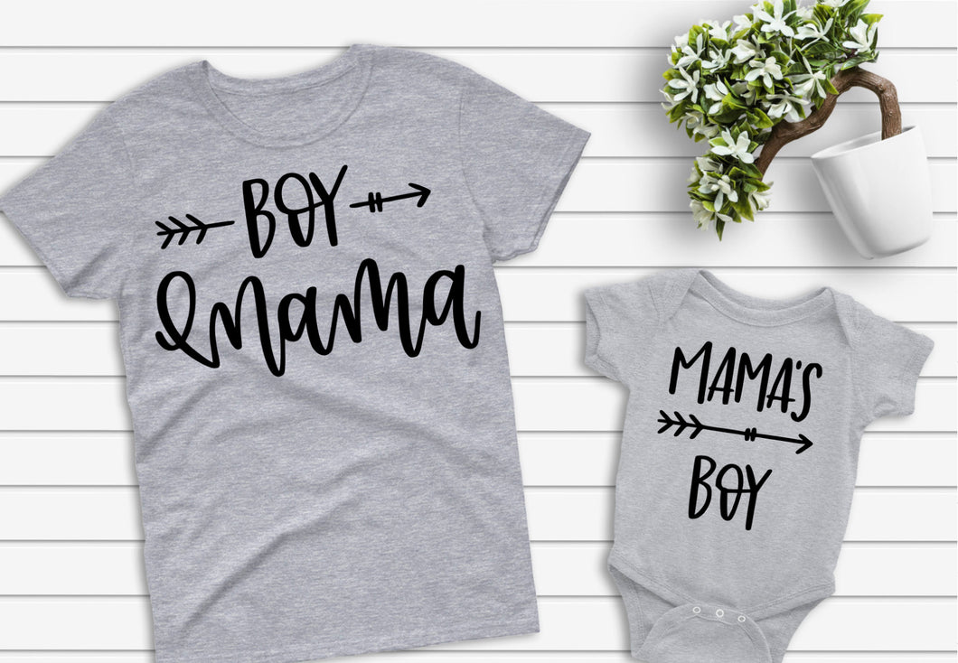Boy Mama/Mama's Boy Arrow Shirts
