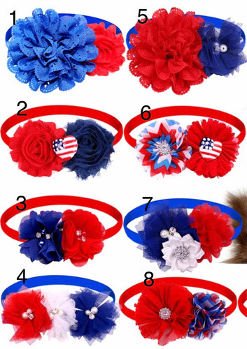 Patriotic Floral Pet Accessories