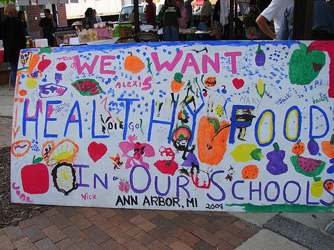"""We want healthy food in our schools"" Ann Arbor, MI 2009"