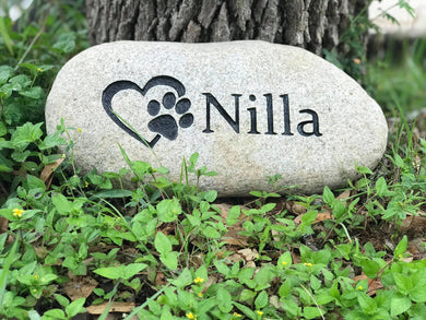 Custom Pet Memorial River Stone