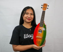 Load image into Gallery viewer, PEACE RASTA TRAVEL UKULELE - Wagas Ukuleles