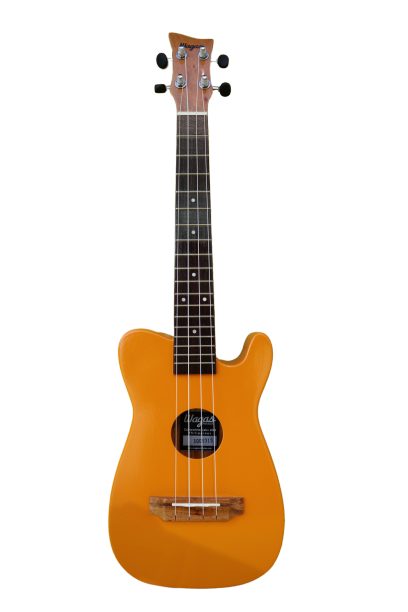 SINGLE CUTAWAY SOLID YELOW TENOR UKULELE - Wagas Ukes
