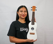 Load image into Gallery viewer, Traditional White Travel Ukulele - Wagas Ukes