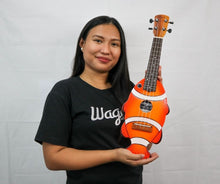 Load image into Gallery viewer, Clown Anemone Orange Travel Ukulele - Wagas Ukes