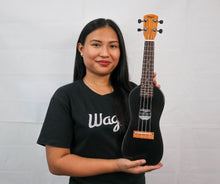 Load image into Gallery viewer, TRADITIONAL BLACK TRAVEL UKULELE - Wagas Ukuleles