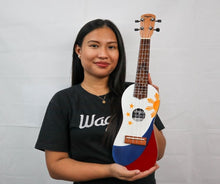 Load image into Gallery viewer, TRADITIONAL PHILIPPINE FLAG TRAVEL UKULELE - Wagas Ukuleles