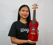 Load image into Gallery viewer, Traditional Red Travel Ukulele - Wagas Ukes