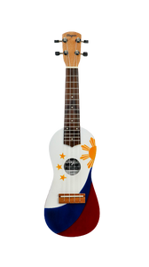 TRADITIONAL PHILIPPINE FLAG TRAVEL UKULELE - Wagas Ukuleles