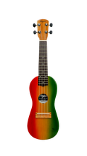Load image into Gallery viewer, Traditional Rasta Travel Ukulele - Wagas Ukes
