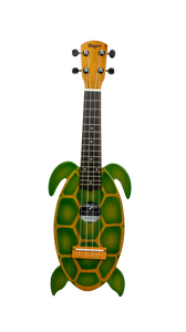 Green Turtle Travel Ukulele - Wagas Ukes