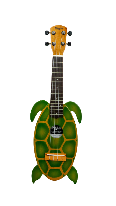 GREEN TURTLE TRAVEL UKULELE - Wagas Ukuleles