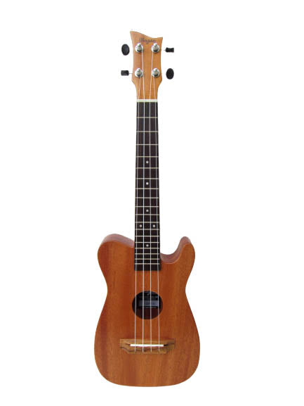 NATURAL SINGLE CUTAWAY TENOR UKULELE - Wagas Ukuleles