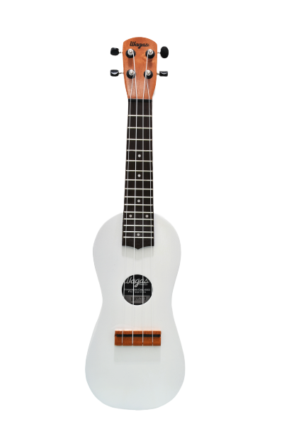 Traditional White Travel Ukulele - Wagas Ukes