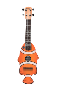 Clown Anemone Orange Travel Ukulele - Wagas Ukes