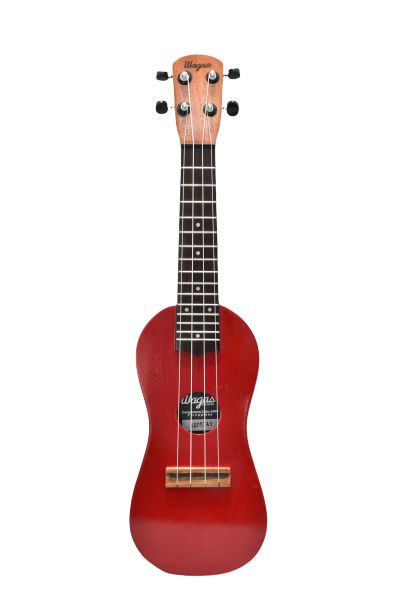 Traditional Red Travel Ukulele - Wagas Ukes