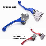 The Zeta Pivot Lever Set is available in black, blue, red or orange for a range of bikes (DF-ZE44-1112 in blue is pictured with a sample of what the red looks like - DF-ZE44-1113 )
