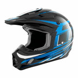 TH-TX12-BB-size - THH TX12 Black/Blue #17 Grid offroad/dirt helmet for adults