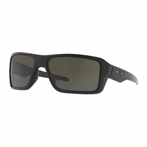 Oakley Double Edge sunglasses in Matte Black frame with Dark Grey lens - OA-OO9380-0166