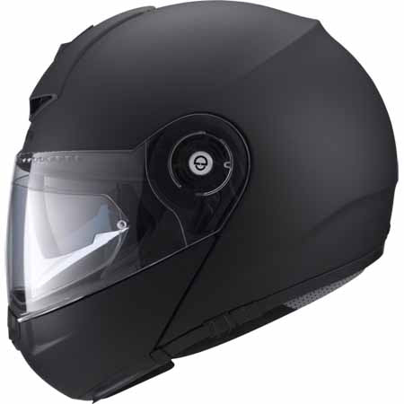 SCH-C3PR-711-xxx - The SCHUBERTH C3 Pro Flip Front Helmet (pictured in Matt Black) has been specially designed for the riding posture on normal and sportive tours and also remains stable in the airflow at high speeds (>160 km/h)