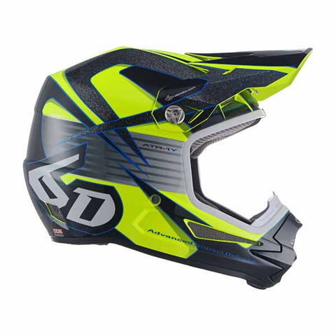 6D ATR-1Y youth offroad/dirt helmet in Avenger Neon Yellow colourway