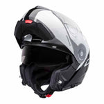 SCH-C3PR-915-xxx SCHUBERTH C3 Pro Split White Helmet with the chin piece up
