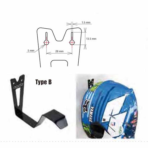 "The ""Type A"" DRC helmet hanger can be used in the garage, van or pits - DF-D057-8041"
