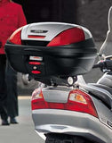 Givi E370 Monolock Case on bike