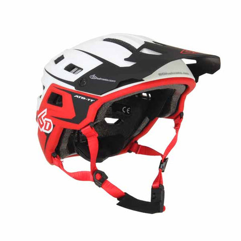 6D ATB-1T Evo White and Red cycle helmet