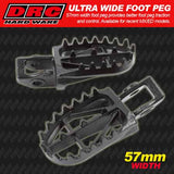 DRC Ultra Wide footpegs are 57mm wide