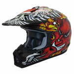 TH-TX12-BA-size - THH TX-12 Black Devil #15 adult off-road helmet (also available in youth sizes)