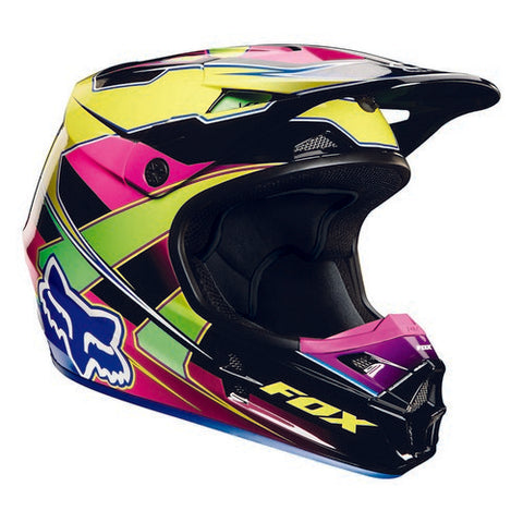 Fox V1 Race Helmet Visor Yellow/Blue