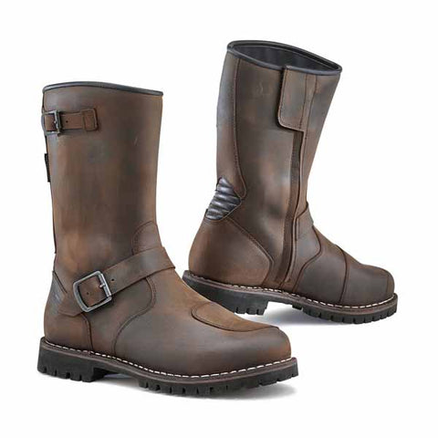 TCX Fuel Waterproof in vintage brown - touring riding/custom/vintage look, all weather boot line