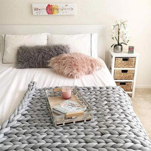 50% OFF The best Christmas gift🌈Colorful - Chunky Knit Blanket