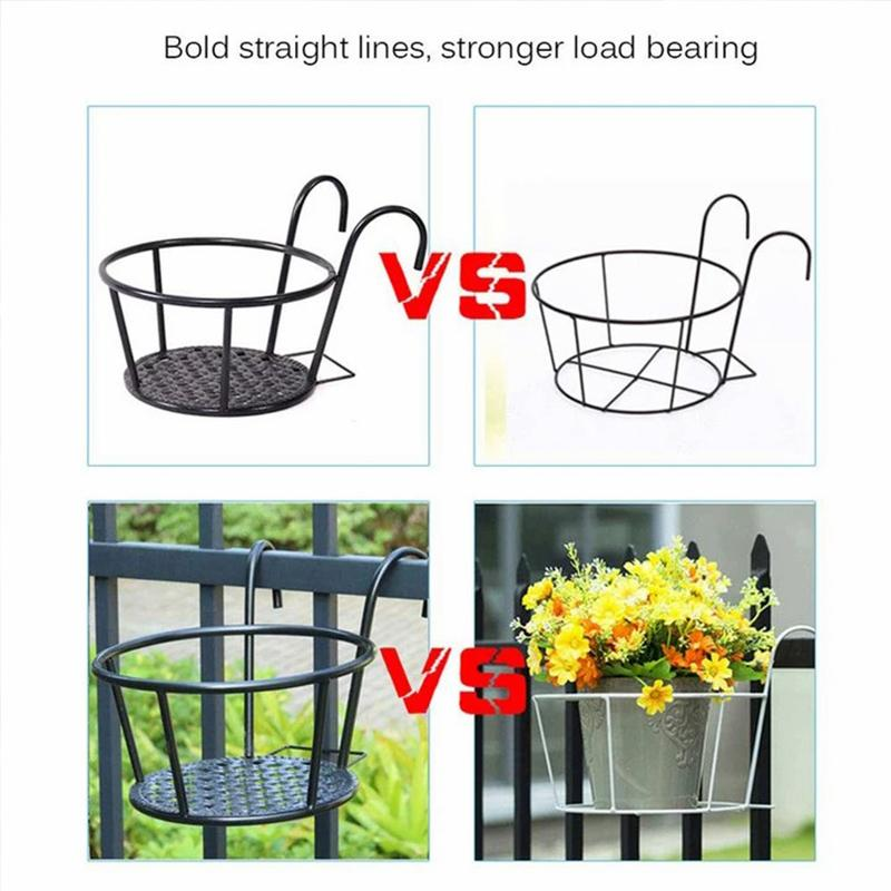 Iron hanging balcony rack-50% OFF