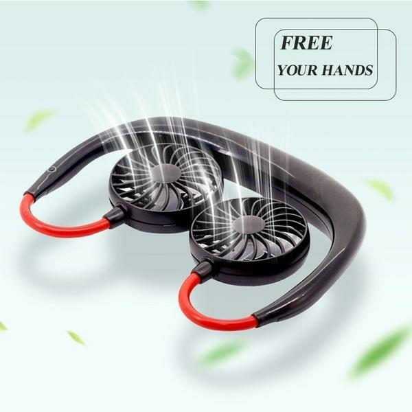 【Last Day Promotion & Best Mother's Day Gift】Rechargeable Neckband Fan - Keep Cool Wherever You Are!