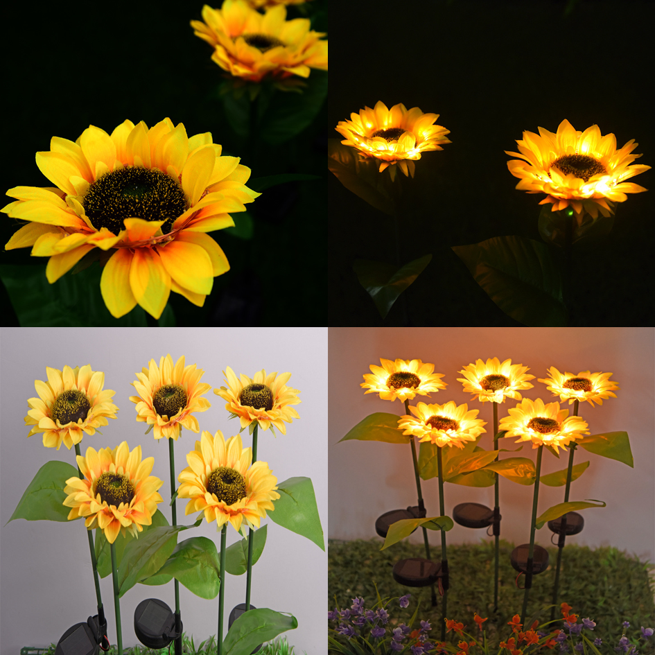 2020 SOLAR SUNFLOWER OUTDOOR GARDEN LIGHT
