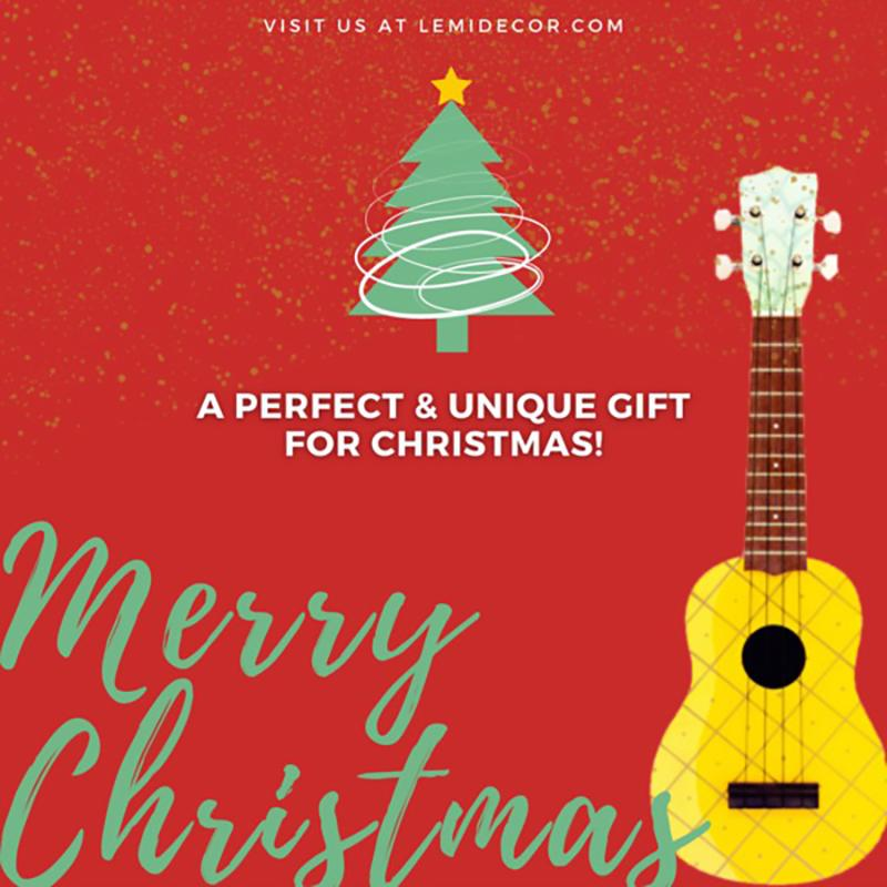 MERRIE DIY UKULELE KIT - PERFECT CREATIVE GIFT FOR CHRISTMAS