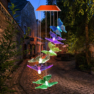Color-Changing Solar LED Waterproof Wind Chimes