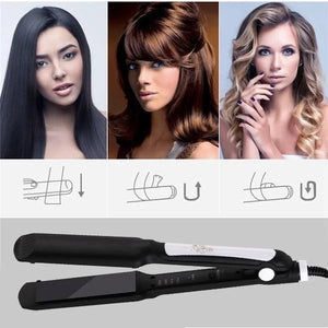 (Upgrade 50% OFF-2020 Anti-Static Ceramic 2 in 1 Straightener and Curling Iron Dual