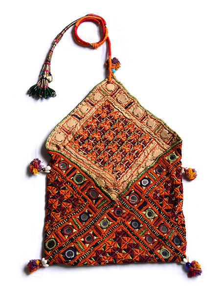 Hand embroidered, Pouch, Kutch (Gujarat) 2238 - ahmedabadtrunk.in